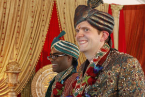 Rishi (left) and Dan married in 2011 in a traditional Hindu wedding. The couple are talking about their same-sex wedding and their individual journies in the hopes of creating awareness about LGBT issues.